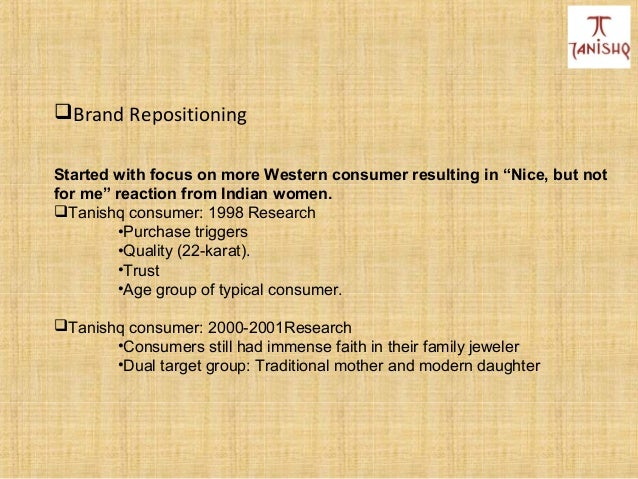 tanishq positioning to capture indian women s heart case analysis Tanishq: positioning to capture the indian womans heart exploring brand associations in the indian context: cafe coffee day brand revitalizing and brand reinforcement: the case of arrow shirts in the indian context.