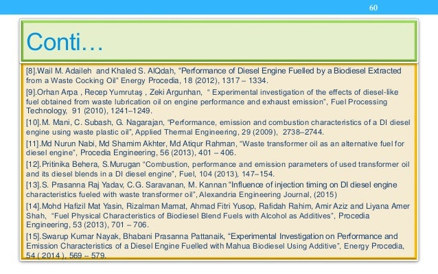 """[8].Wail M. Adaileh and Khaled S. AlQdah, """"Performance of Diesel Engine Fuelled by a Biodiesel Extracted from a Waste Cock..."""