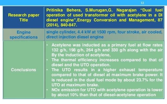 "12 Research paper Title Pritinika Behera, S.Murugan,G. Nagarajan ""Dual fuel operation of used transformer oil with acetyle..."