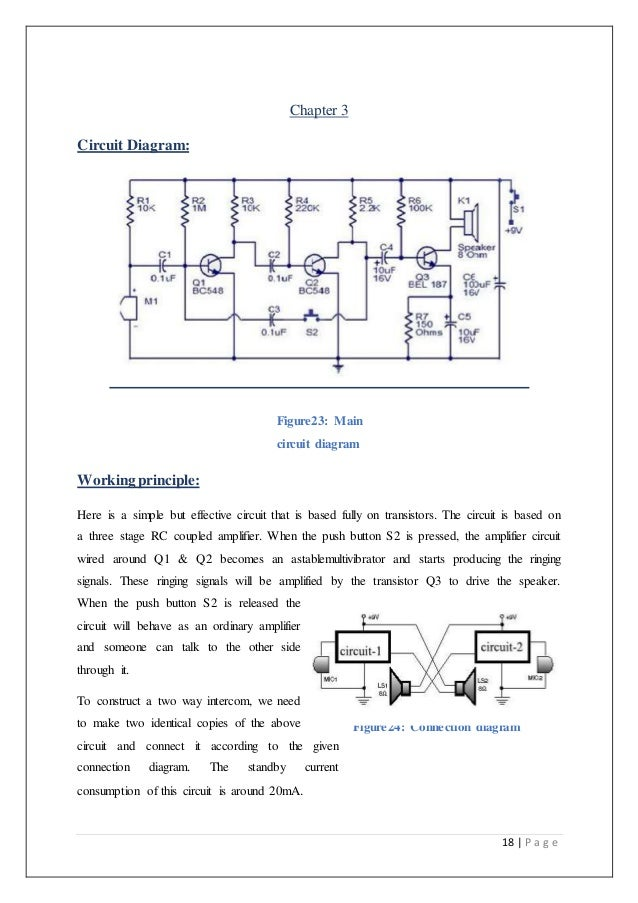 Technical report on Transistor Based Intercom System