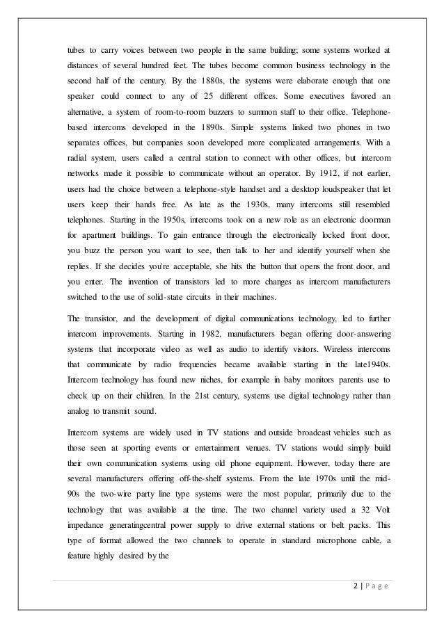 technical report on transistor based intercom system 2 638?cb=1437627446 technical report on transistor based intercom system