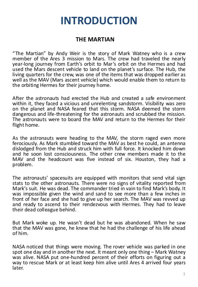 mark watney character analysis