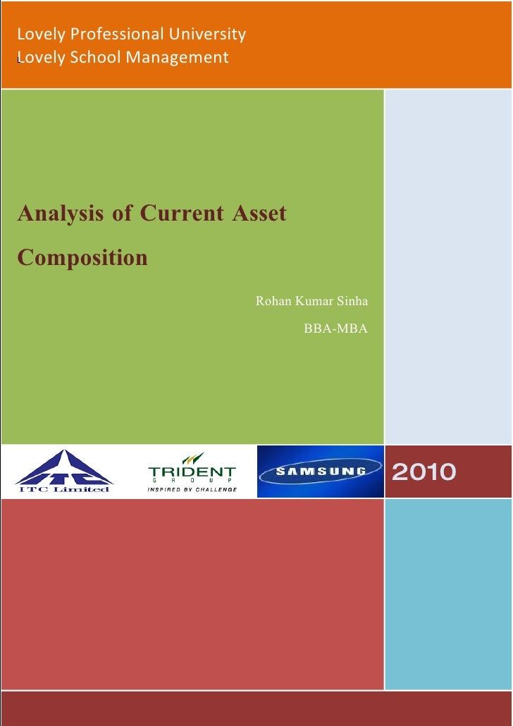 Lovely Professional University Lovely School Management L     Analysis of Current Asset Composition                       ...