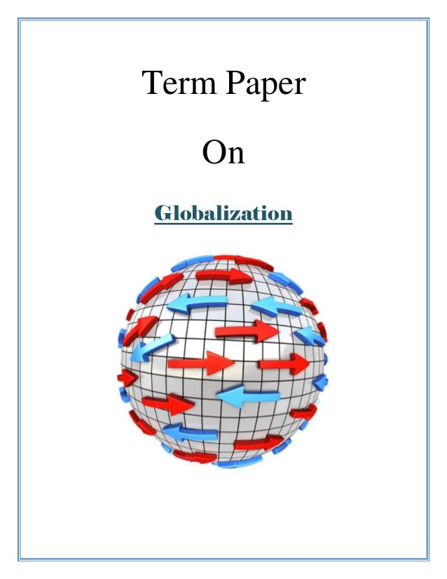 term paper final 1 Term paper: format of citations and references 1 introduction as you write your term papers, it will be important for you to document where you obtained the.
