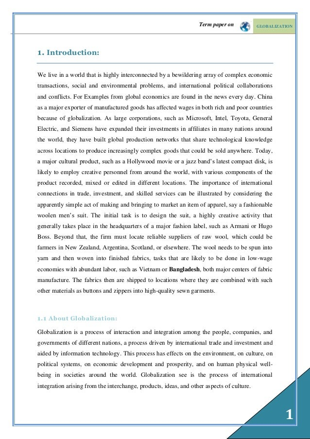argument essay about globalization