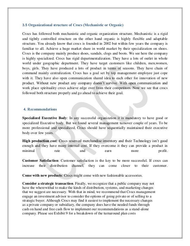 crocs essay Crox: crocs, inc - full company report get the latest full company report for crocs, inc from zacks investment research.