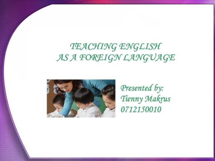 thesis teaching english as a foreign language