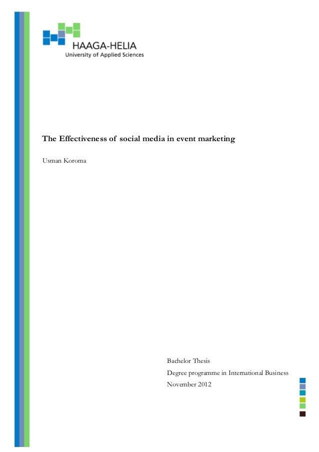 social media marketing thesis pdf