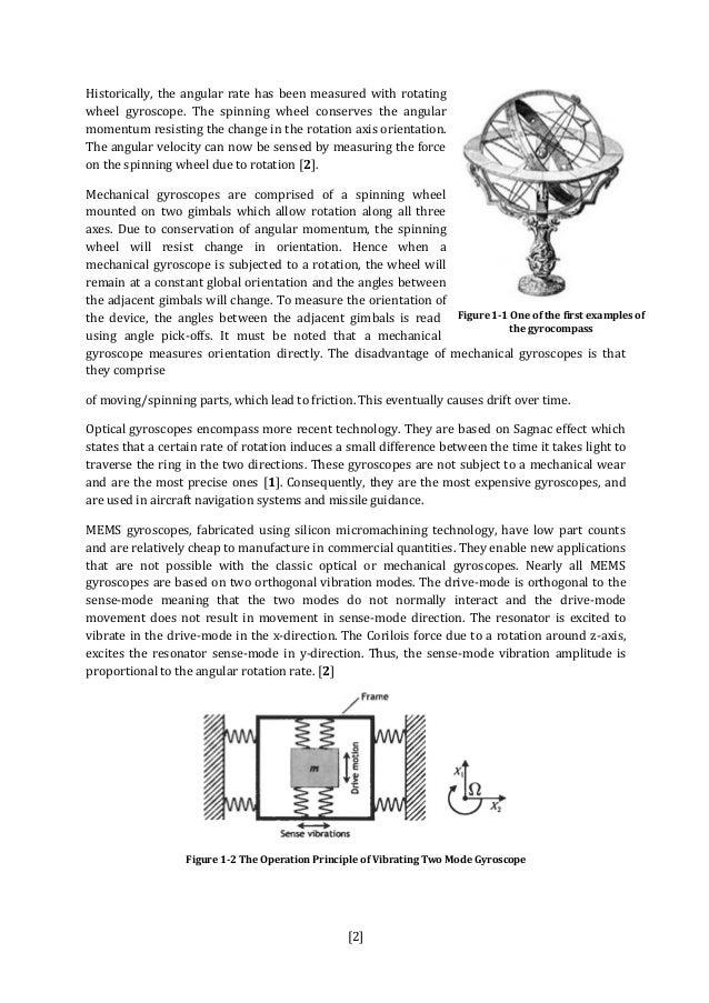 Gyroscopic stabilization thesis