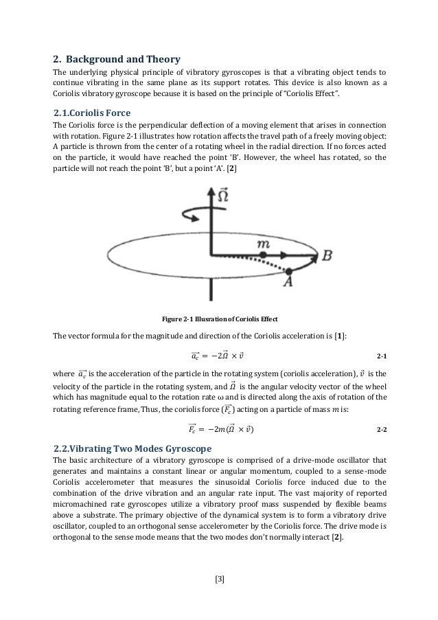 mems vibratory gyroscope thesis