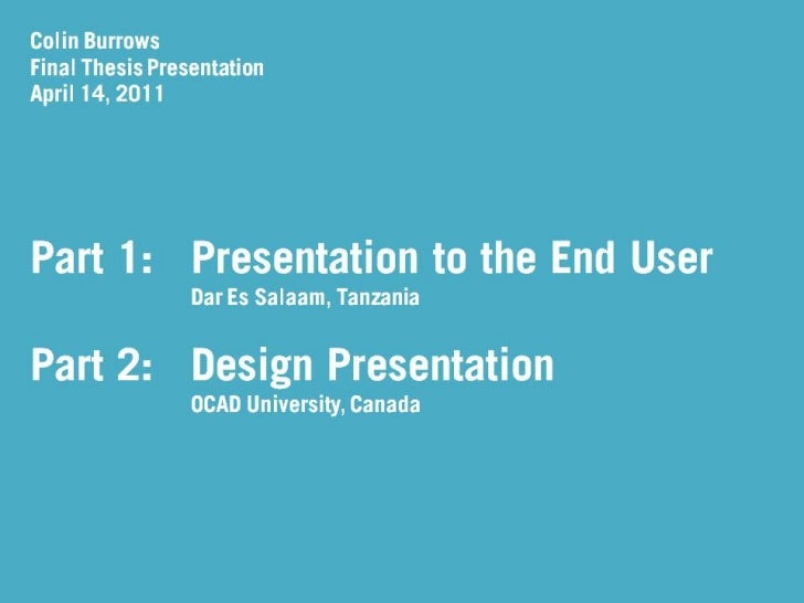 Final industrial design thesis presentation