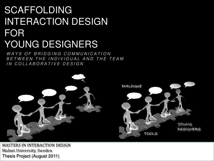 SCAFFOLDING <br />INTERACTION DESIGN<br />FOR <br />YOUNG DESIGNERS<br />WAYS OF BRIDGING COMMUNICATION<br />BETWEEN THE I...