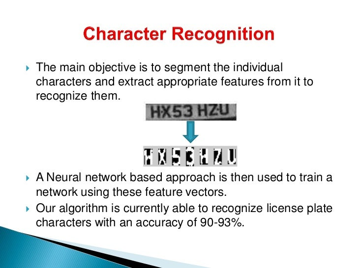 thesis on character recognition system Technology essays: facial recognition search vector type facial recognition systems depend on the fact that all human faces magnetic ink character recognition.
