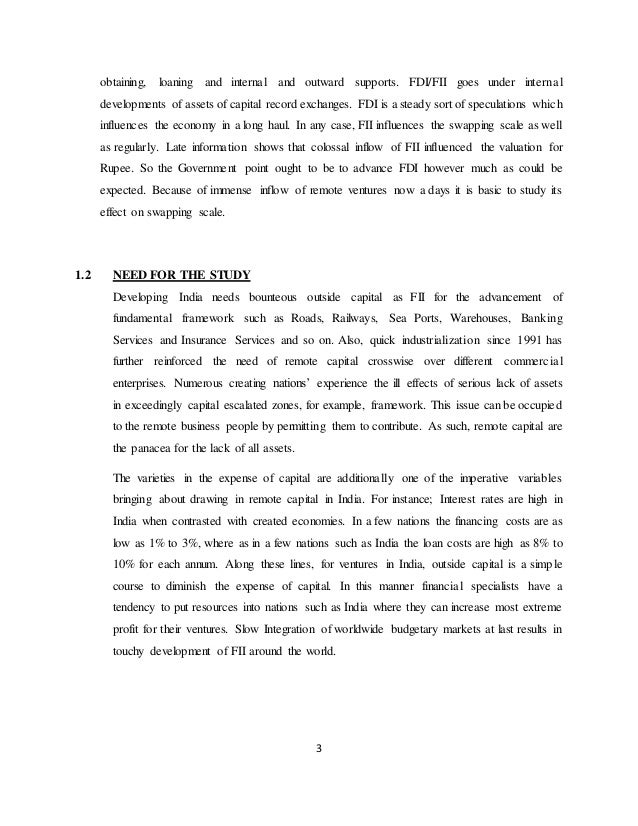 foreign direct investment in india essay