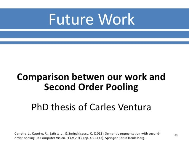 phd thesis future work The others here have provided excellent guidance, but i'll just add that a phd conclusion should not only tie together the chapters, but propose future work to fill in gaps of knowledge, to answer new questions raised, and to explore new ideas that came to light after the thesis was put together.