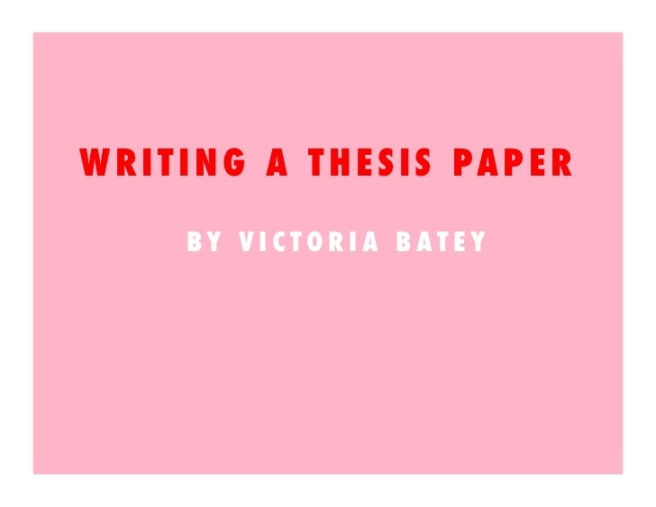 writing your thesis in 15 minutes