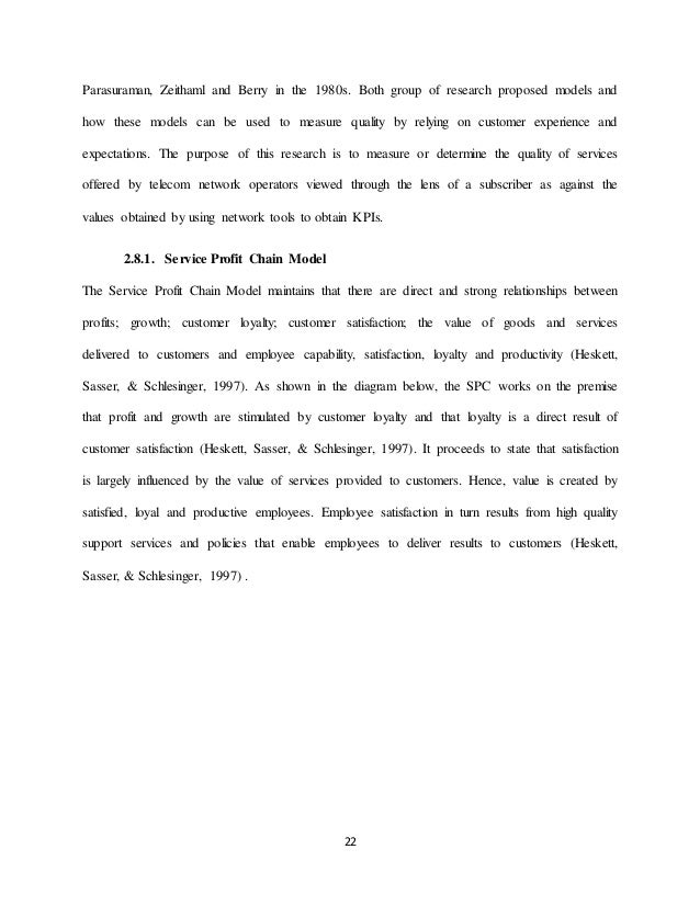 Thesis on relationship between customer satisfaction and loyalty