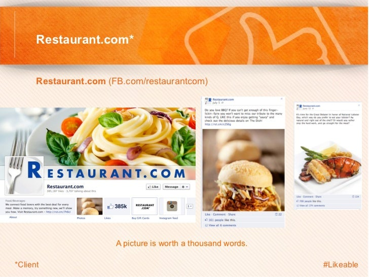 Restaurant.com*      Restaurant.com (FB.com/restaurantcom)                                     A picture is worth a th...