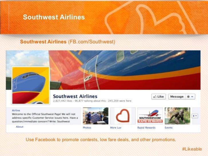 Southwest Airlines                                         Sh Southwest Airlines (FB.com/Southwest)         Use Face...