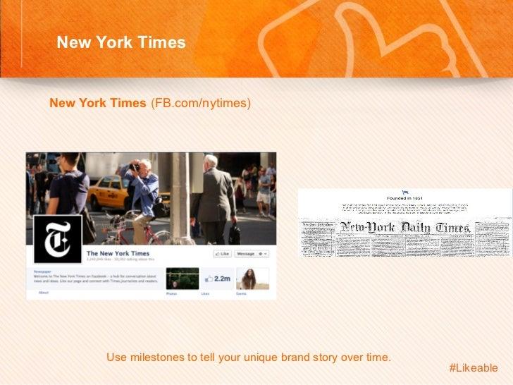 New York Times                                      Sh New York Times (FB.com/nytimes)              Use milestones t...