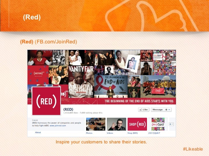 (Red)                                    Sh (Red) (FB.com/JoinRed)                 Inspire your customers to share t...