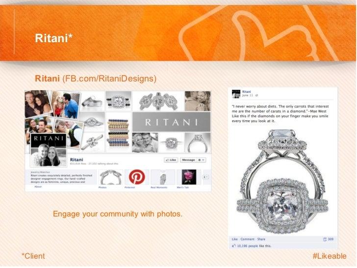 Ritani*    Ritani (FB.com/RitaniDesigns)                Engage your community with photos.*Client                       ...
