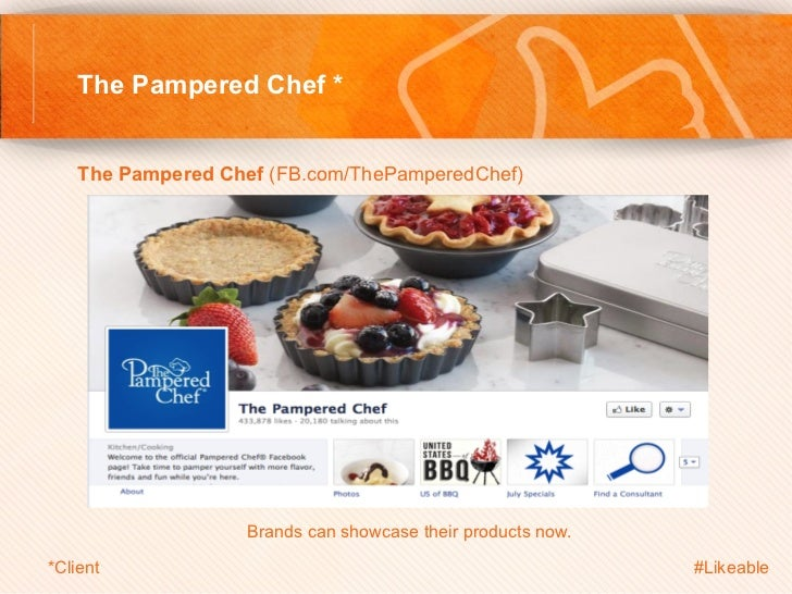 The Pampered Chef *    The Pampered Chef (FB.com/ThePamperedChef)                        Brands can showcase their produ...