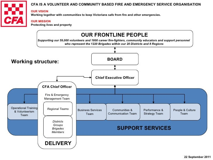 Chief Executive Officer People & Culture Team  Performance & Strategy Team Operational Training & Volunteerism Team DELIVE...