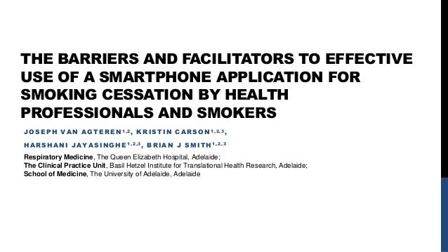 barriers to smoking cessation What are brief interventions  overcome barriers to  is implementation of the 5 a's of smoking cessation at community mental health centers effective for .