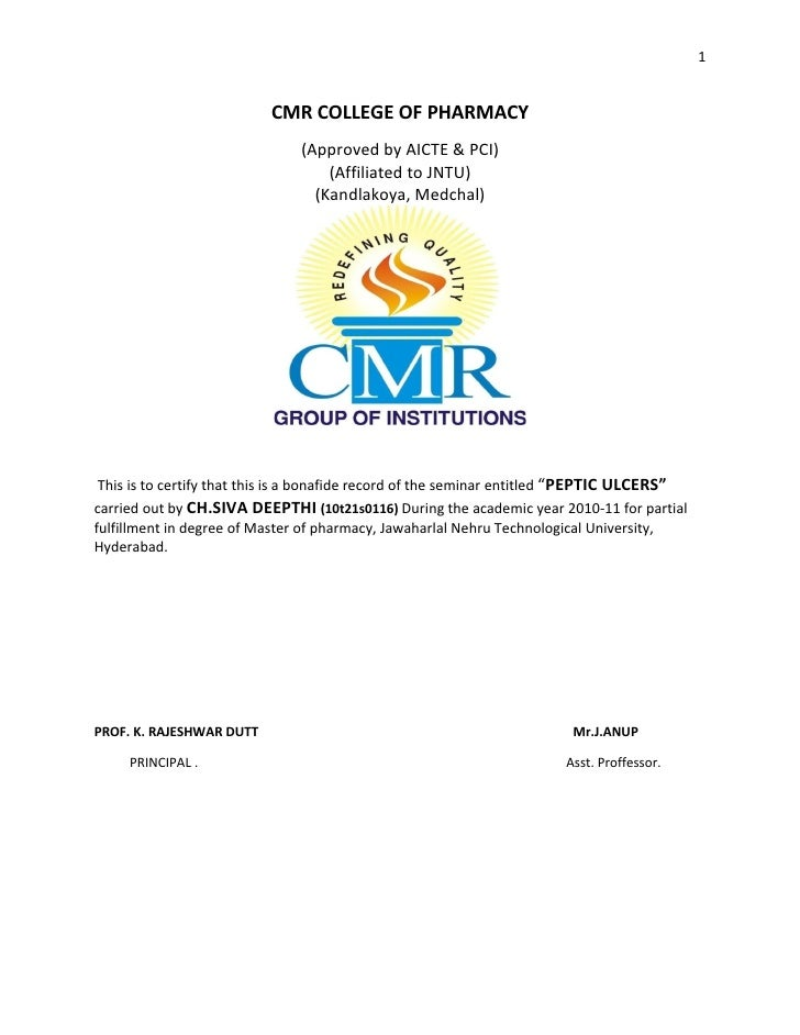 1                          CMR COLLEGE OF PHARMACY                               (Approved by AICTE & PCI)                ...