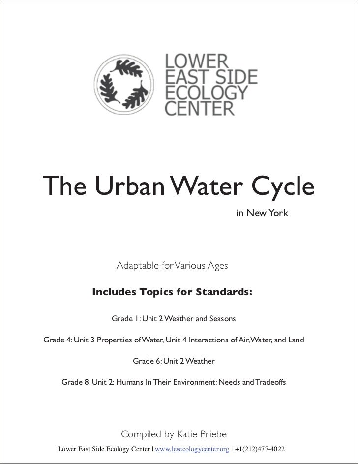 The Urban Water Cycle                                                              in New York                       Adapt...