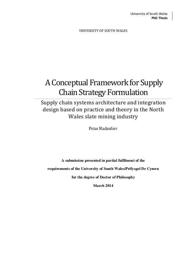 Supplier thesis phd university oregon
