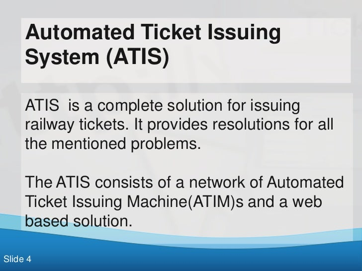 Railway Ticket Issuing System (Online)