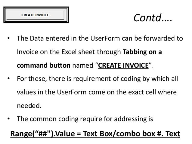 Sales invoice VBA excel user-form
