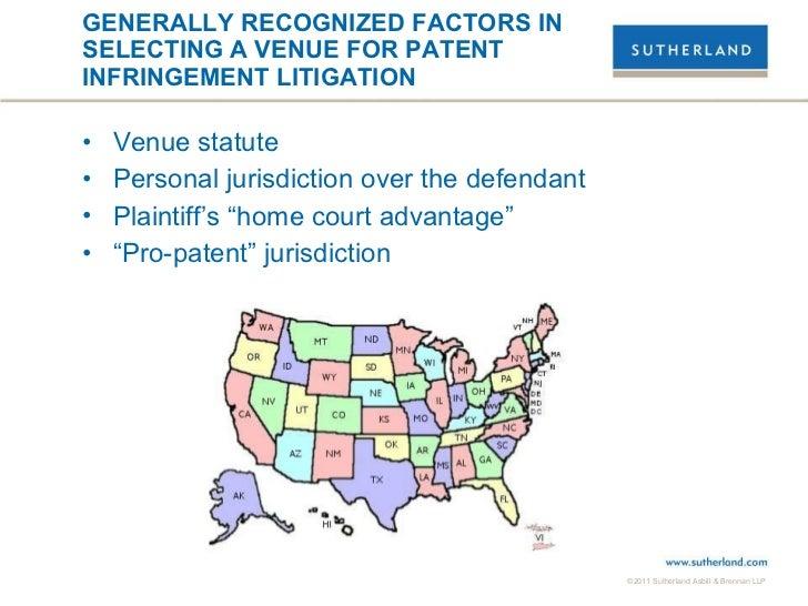 Selecting a Patent Suit Venue Slide 2