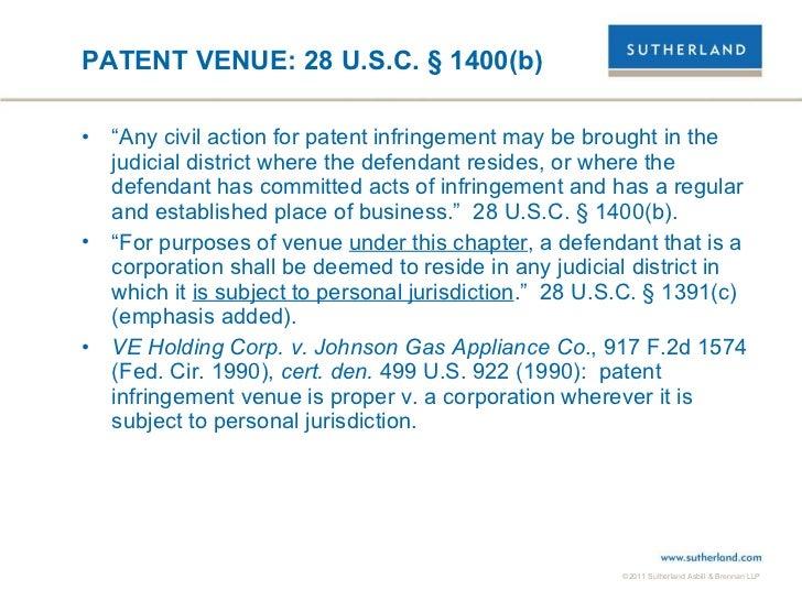 Selecting a Patent Suit Venue Slide 3