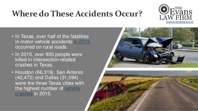 Where do These Accidents Occur? • In Texas, over half of the fatalities in motor vehicle accidents in 2015 occurred on rur...