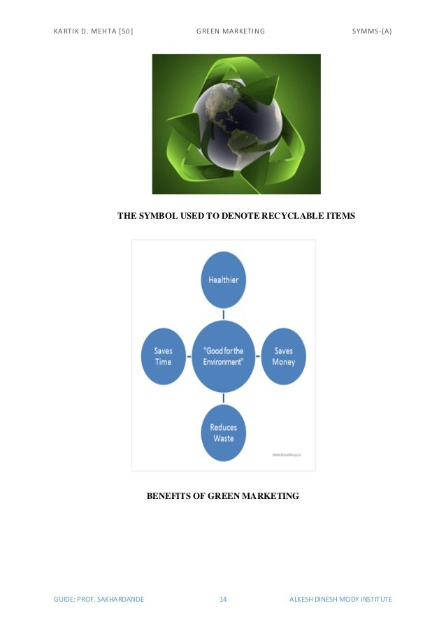 benefits of green marketing The business case for green building on wwwusgbcorg importance of the marketing based benefits that accrue to leadership in energy and environmental design.