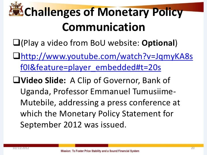 Effect of Monetary Policy