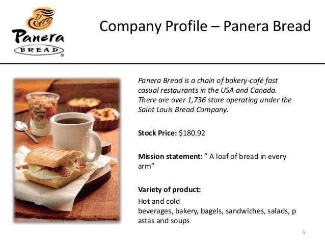 panera bread powerpoint Panera bread devotes a great deal of its marketing towards visualization of its bread through large displays embedded in each  powerpoint 54 4/14/2017 smad.