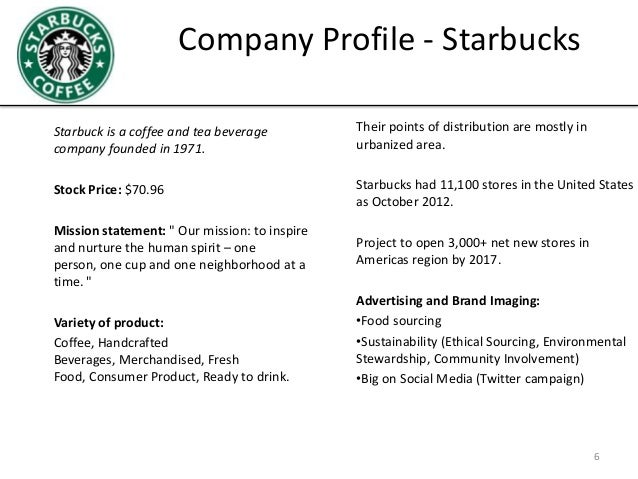 Starbucks Company Profile