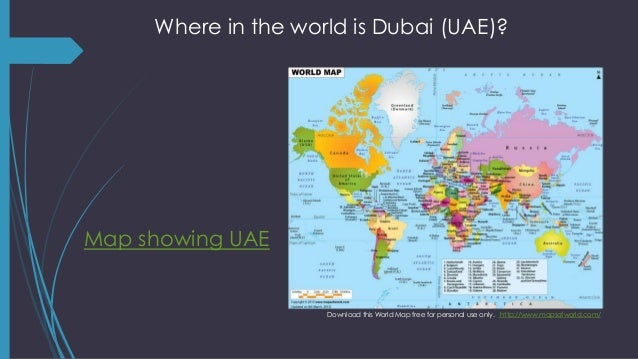 2 where in the world is dubai uae map showing