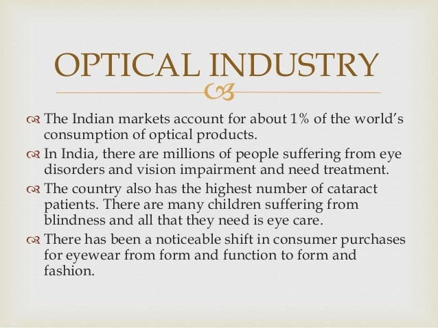 Optical Industry And Vision Express