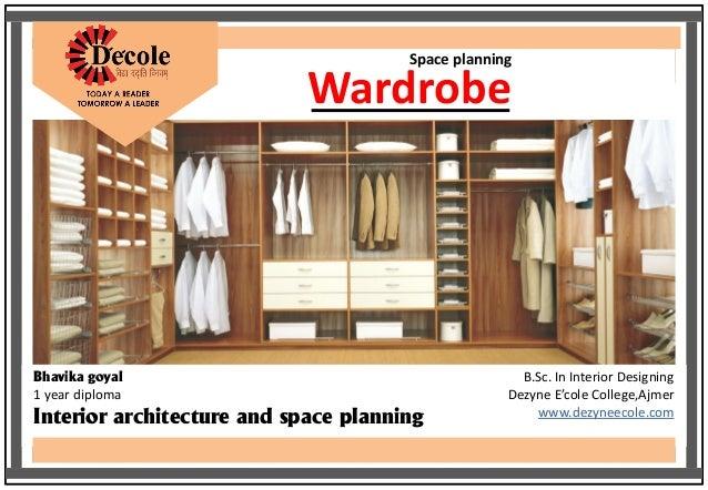 Bhavika Goyal BSc Interior Design Wardrobe Planning Work
