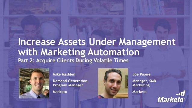 Increase AUM with Marketing Automation: Acquire Clients during Volatile Times
