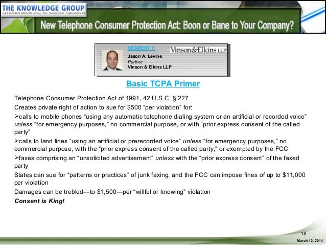 New Telephone Consumer Protection Act Boon Or Bane To Your Company