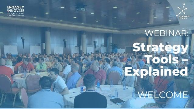 WEBINAR: WELCOME Strategy Tools – Explained