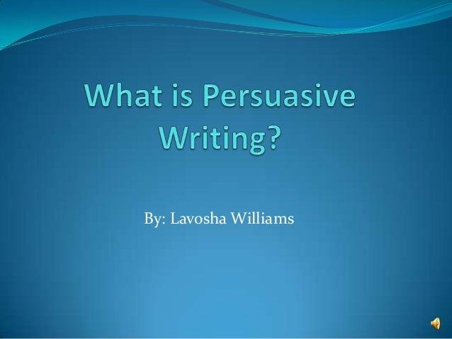 Persuasive Writing Chart