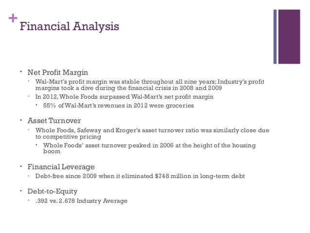 whole foods financial anaylysis Swot analysis whole foods they are known as whole paycheck because some of the foods are higher priced than other grocery stores generating a good deal of interest from the media and financial industries 2002 saw an expansion into canada and in 2004.