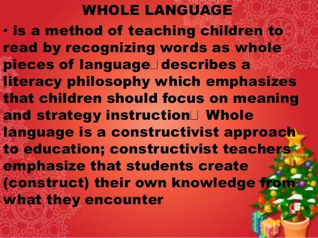 the whole language or phonics approach The debate still rages among educators, parents, and experts whole language or phonics which approach to teaching reading works best is the pendulum swinging.